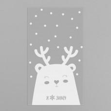 Пакет подарочный пластиковый Я люблю зиму, 20 х 35 см4459111